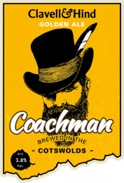 Clavell and Hind Coachman 3.8% Golden Ale (12x500ml)