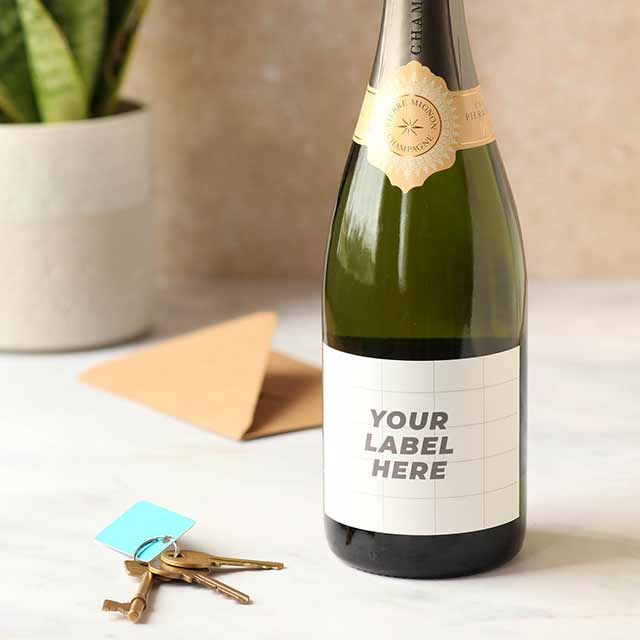 Champagne Bespoke Label Example