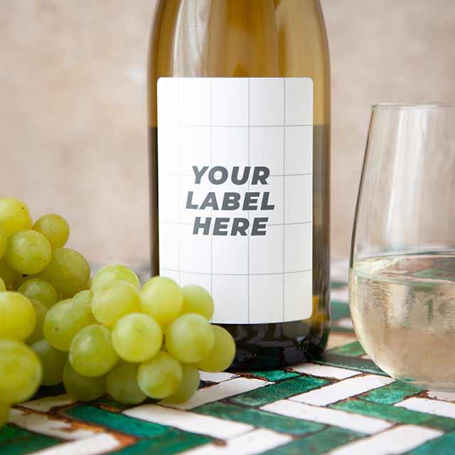 White Wine Bespoke Label Example